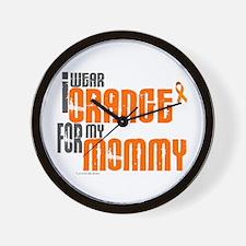 I Wear Orange For My Mommy 6 Wall Clock