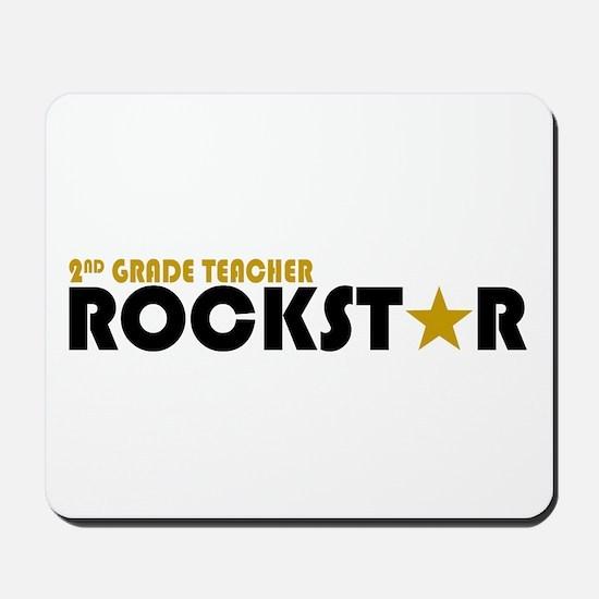 2nd Grade Teacher Rockstar 2 Mousepad