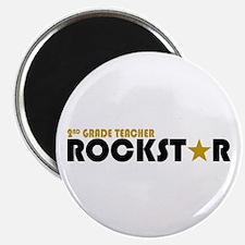 2nd Grade Teacher Rockstar 2 Magnet
