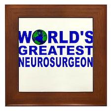World's Greatest Neurosurgeon Framed Tile