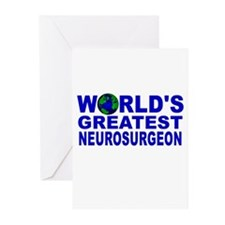 World's Greatest Neurosurgeon Greeting Cards (Pk o