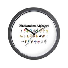 Mackenzie's Animal Alphabet Wall Clock