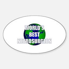 World's Best Neurosurgeon Oval Decal