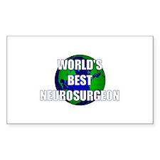 World's Best Neurosurgeon Rectangle Decal