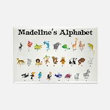 Madeline's Animal Alphabet Rectangle Magnet