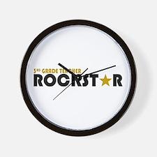 3rd Grade Teacher Rockstar 2 Wall Clock