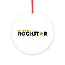 3rd Grade Teacher Rockstar 2 Ornament (Round)