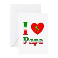 I (heart) Love Papa Greeting Card