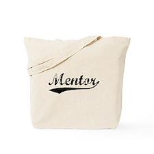 Vintage Mentor (Black) Tote Bag
