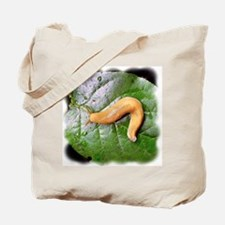 Banana Slug on Leaf Tote Bag