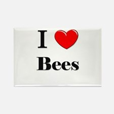 I Love Bees Rectangle Magnet