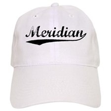 Vintage Meridian (Black) Baseball Cap