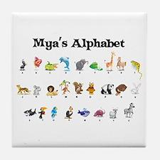 Mya's Animal Alphabet Tile Coaster
