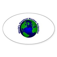 World's Greatest Nuclear Scie Oval Decal