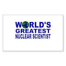 World's Greatest Nuclear Scie Sticker (Rectangular