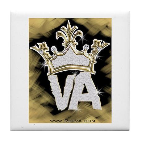 Crown of VA Tile Coaster