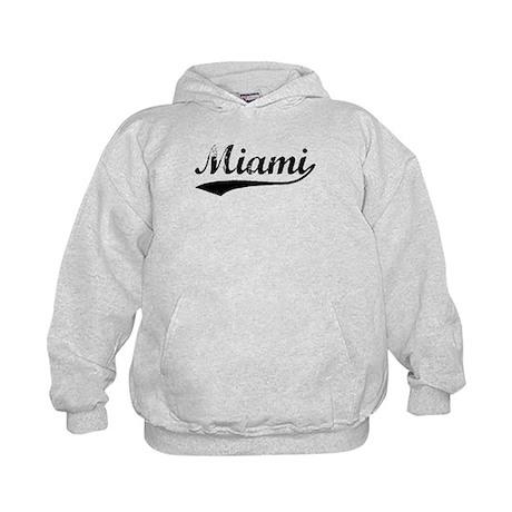 Vintage Miami (Black) Kids Hoodie