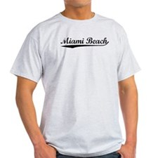 Vintage Miami Beach (Black) T-Shirt