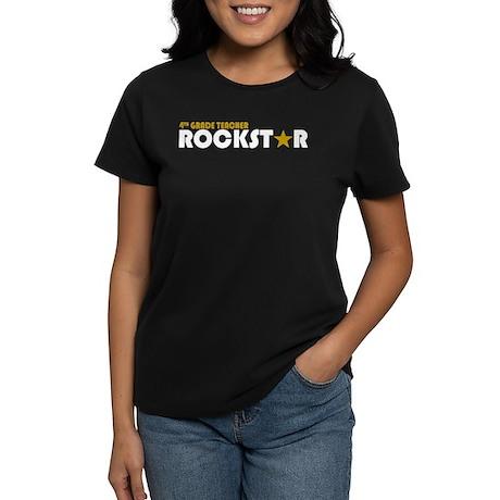 4th Grade Teacher Rockstar 2 Women's Dark T-Shirt