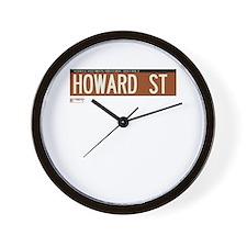 Howard Street in NY Wall Clock