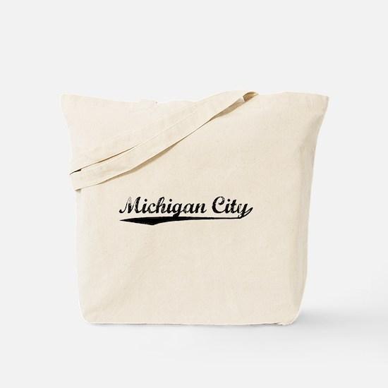 Vintage Michigan C.. (Black) Tote Bag