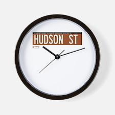 Hudson Street in NY Wall Clock