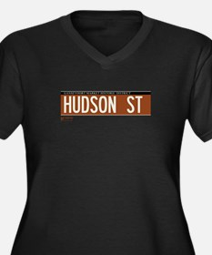 Hudson Street in NY Women's Plus Size V-Neck Dark