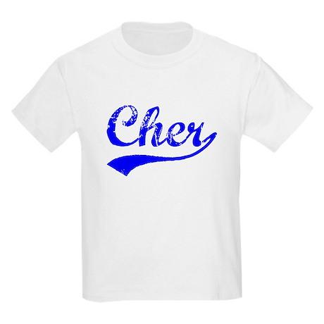 Vintage Cher (Blue) Kids Light T-Shirt