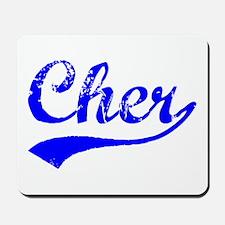 Vintage Cher (Blue) Mousepad