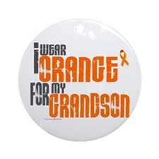 I Wear Orange For My Grandson 6 Ornament (Round)