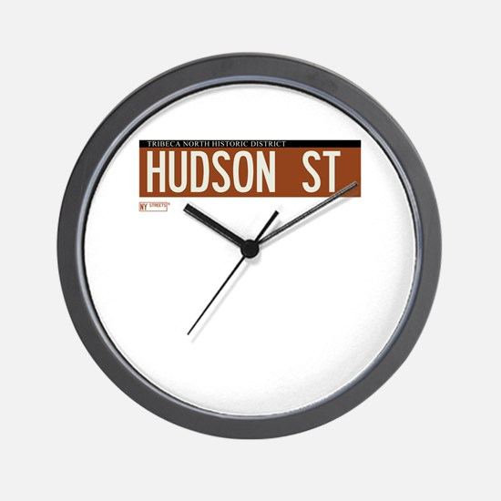 Hudson Street in NY Wall Clock