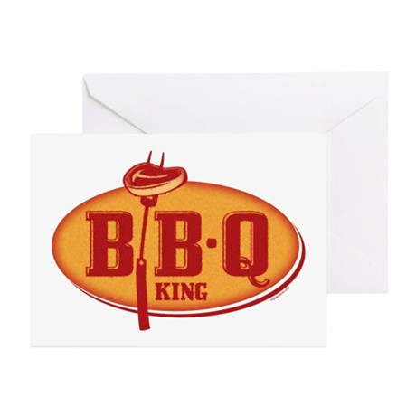 BBQ King Greeting Cards (Pk of 10)