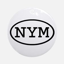 NYM Oval Ornament (Round)