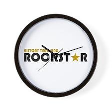 History Teaching Rockstar 2 Wall Clock