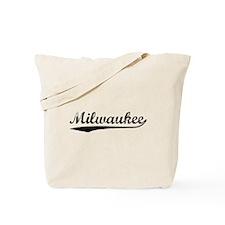 Vintage Milwaukee (Black) Tote Bag