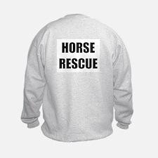 Large Logo HORSE RESCUE Sweatshirt