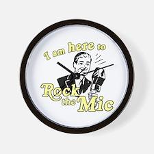 Rock the Mic Wall Clock