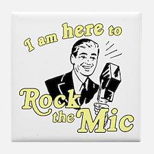 Rock the Mic Tile Coaster