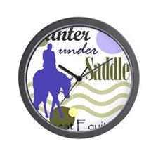 Hunter in periwinkle Wall Clock