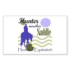 Hunter in periwinkle Rectangle Decal