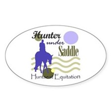 Hunter in periwinkle Oval Decal