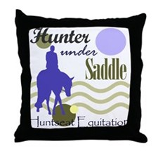 Hunter in periwinkle Throw Pillow