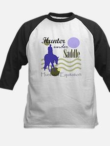 Hunter in periwinkle Tee