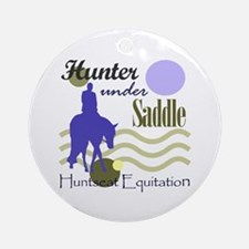 Hunter in periwinkle Ornament (Round)