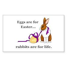 Easter Rabbit Welfare Rectangle Decal