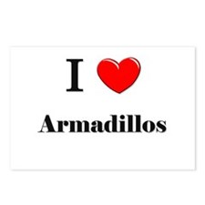 I Love Armadillos Postcards (Package of 8)