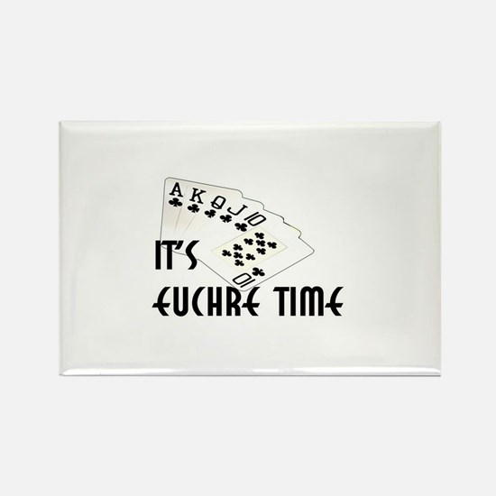 Euchre Time Rectangle Magnet (10 pack)