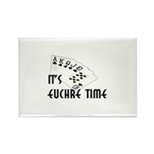 Euchre Time Rectangle Magnet