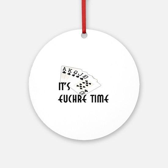 Euchre Time Ornament (Round)