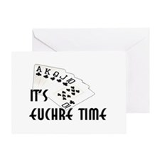 Euchre Time Greeting Card